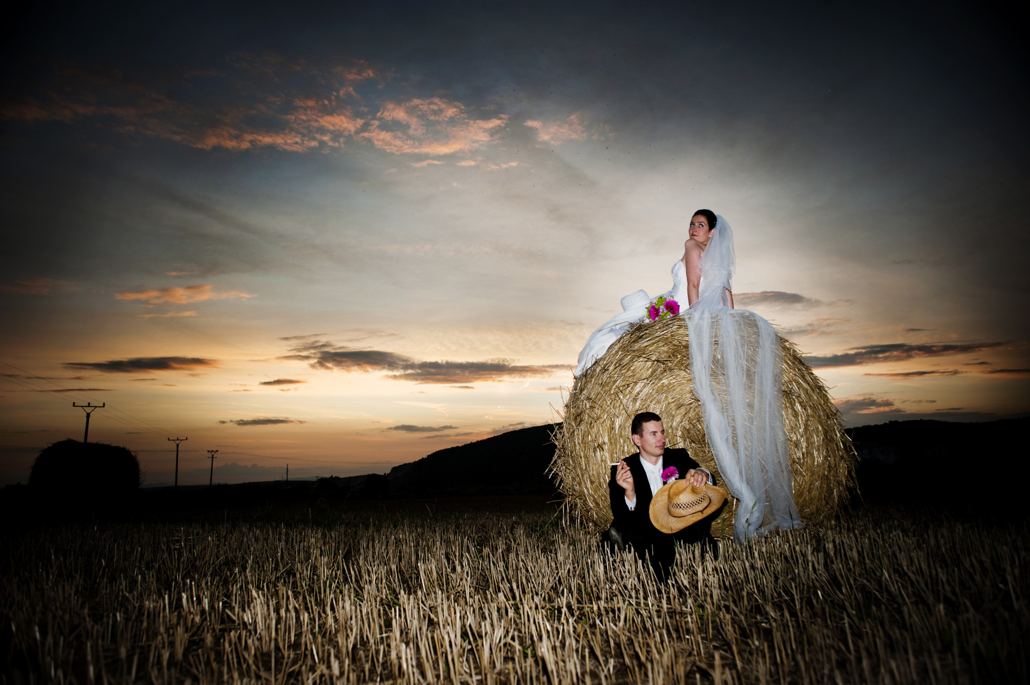Hay Bale Field Wedding