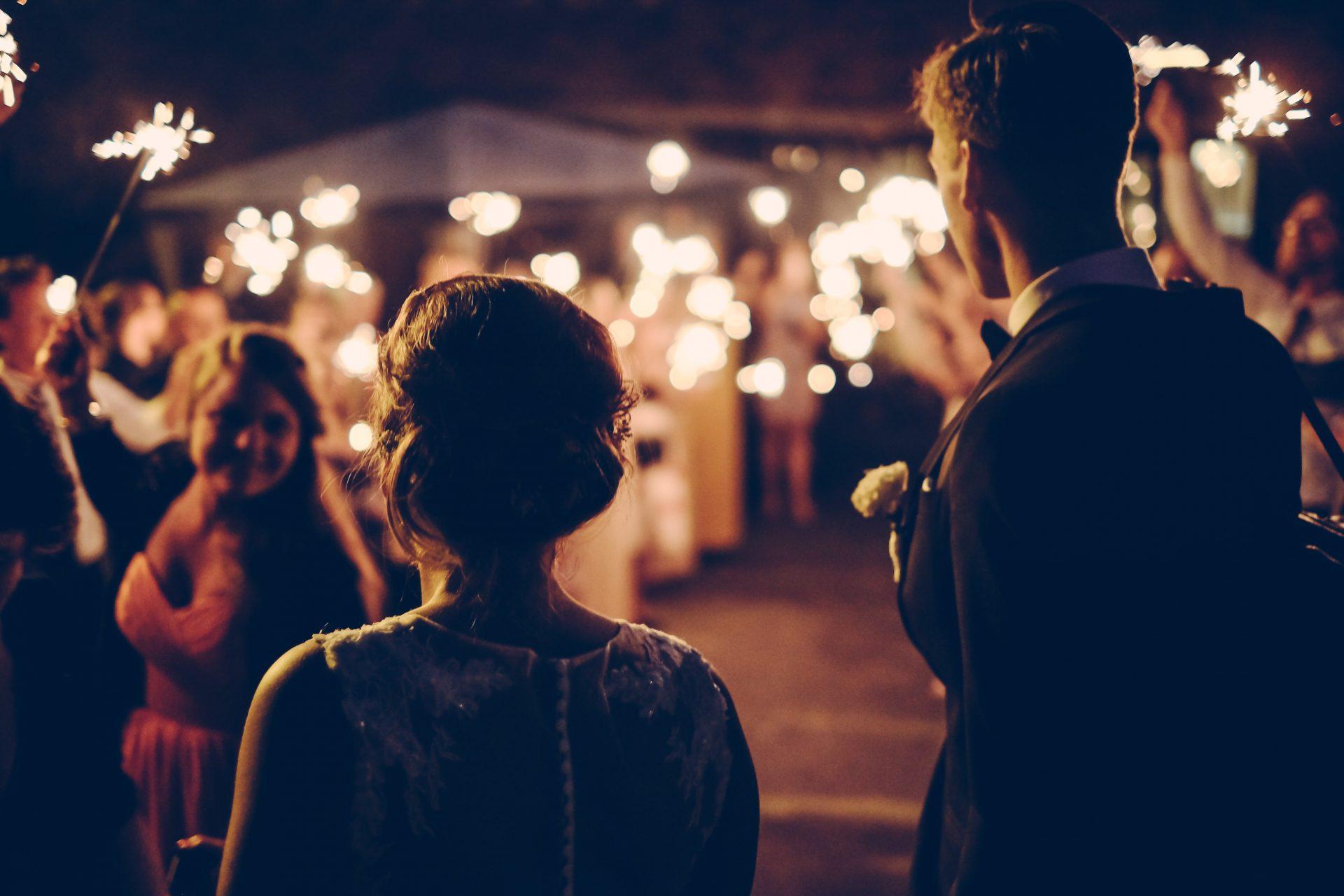 Sparkler Wedding Farewell