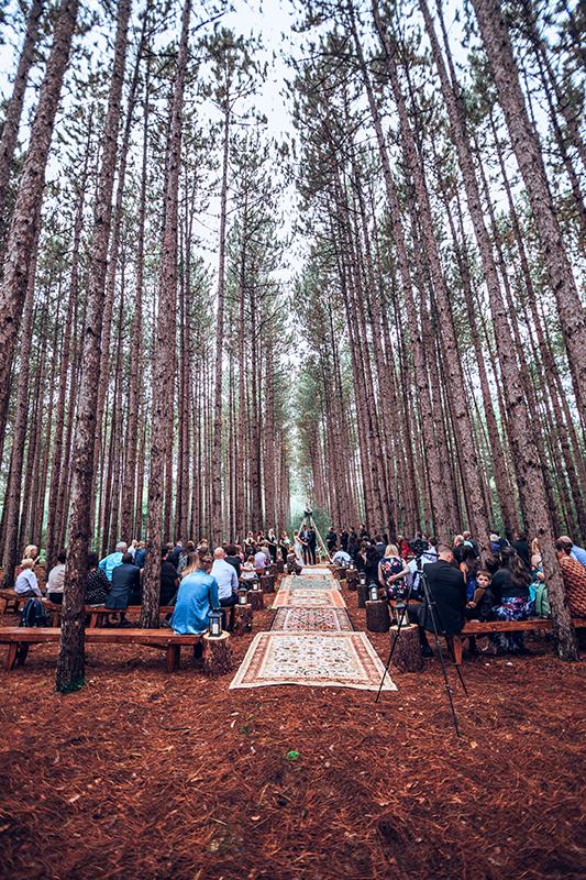 Down the wedding aisle