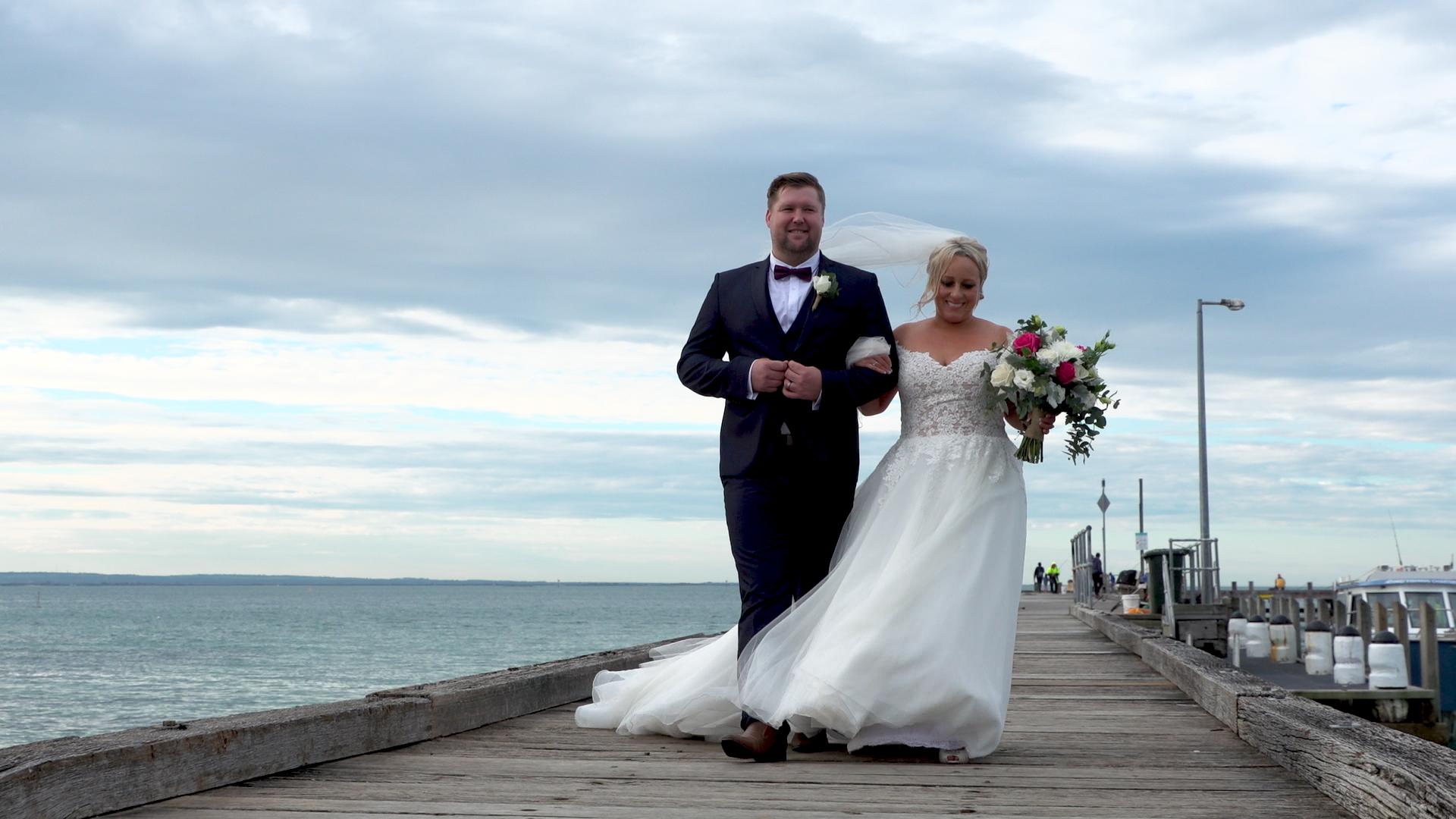Couple Portsea Pier