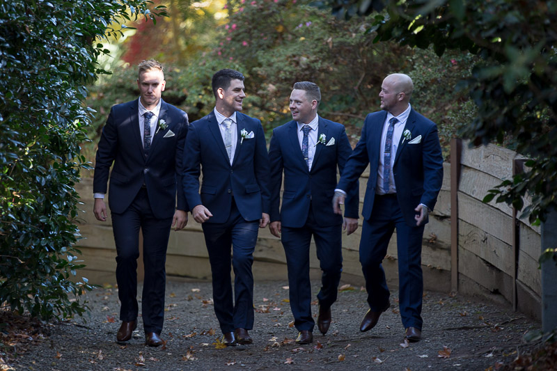 walking Groomsmen