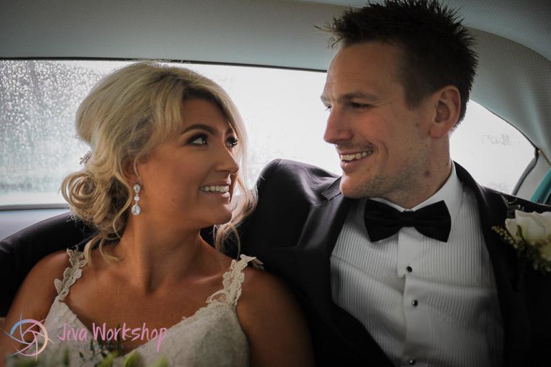 Couple Car Wedding