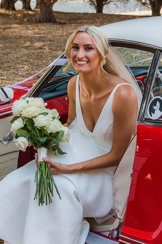 Brides red corvette