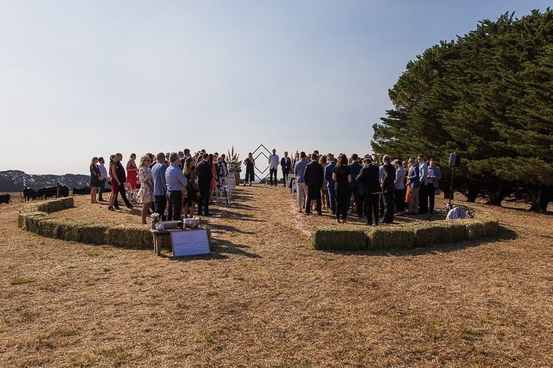 The ceremony on the hill