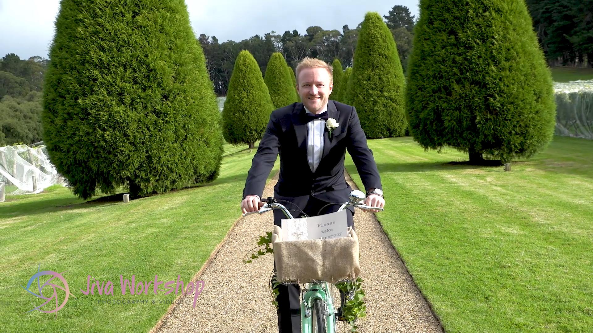 Groom on bike Lindenderry
