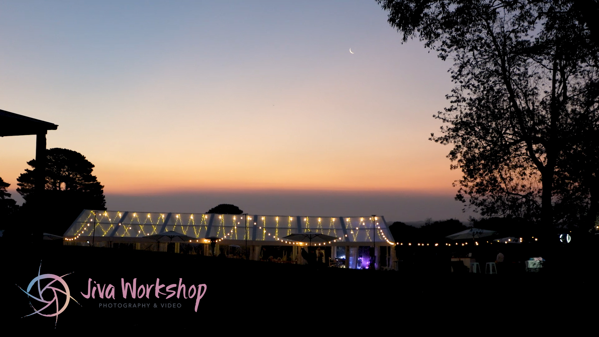 Sunset of the Marquee wedding