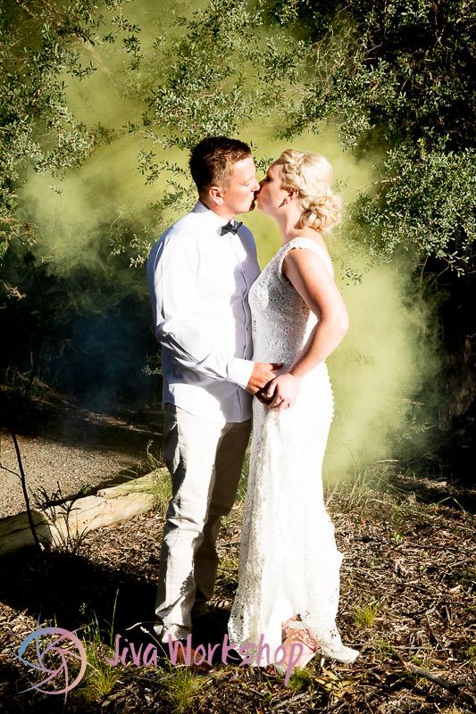 Smoking couple kiss