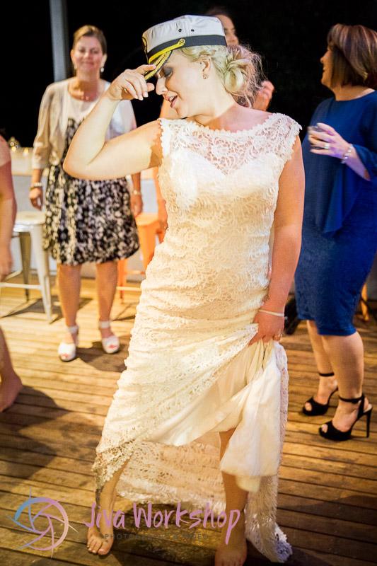 The Bride dancing