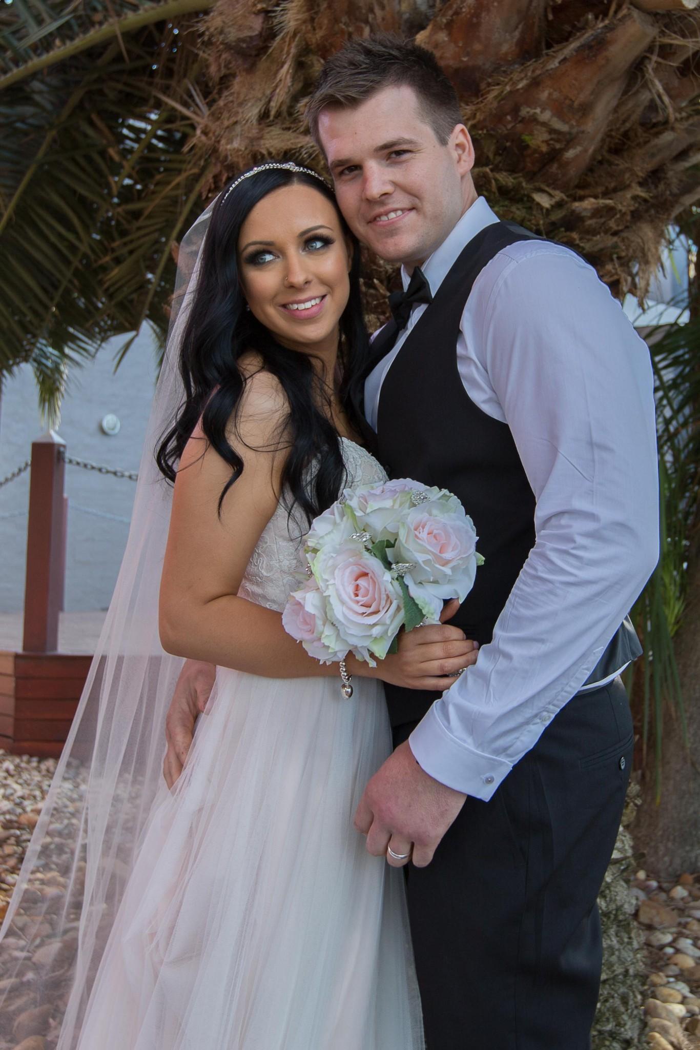 Wedding couple Palmtree